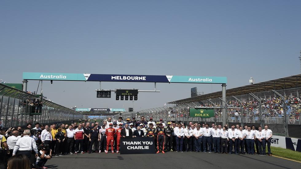 GP de Australia de F1: homenaje a Charlie Whiting en la parrilla de salida