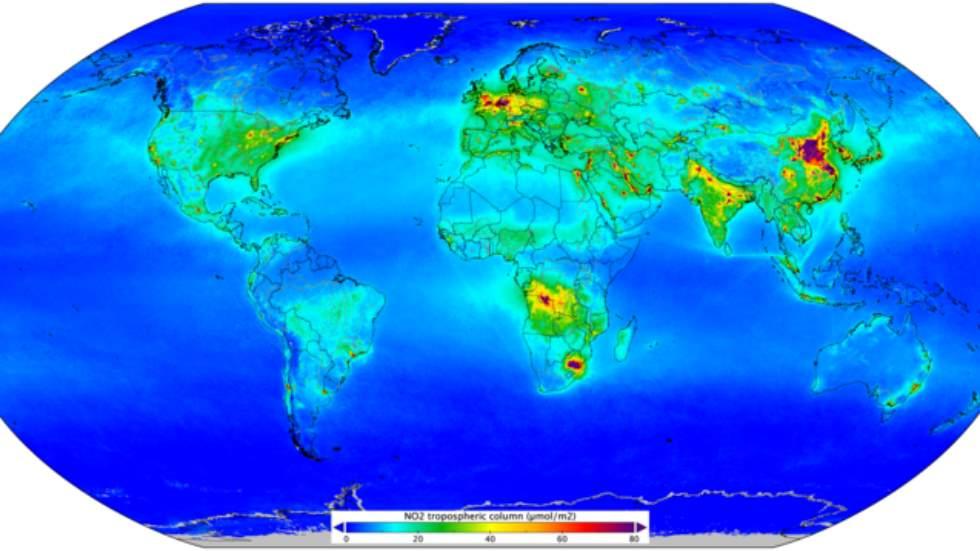 Las zonas del mundo con mayor contaminación por tráfico (mapa)