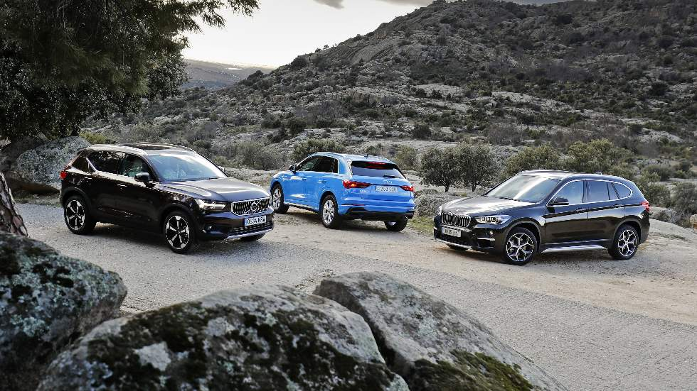 Audi Q3, BMW X1 y Volvo XC40: ¿qué SUV premium de gasolina es mejor?