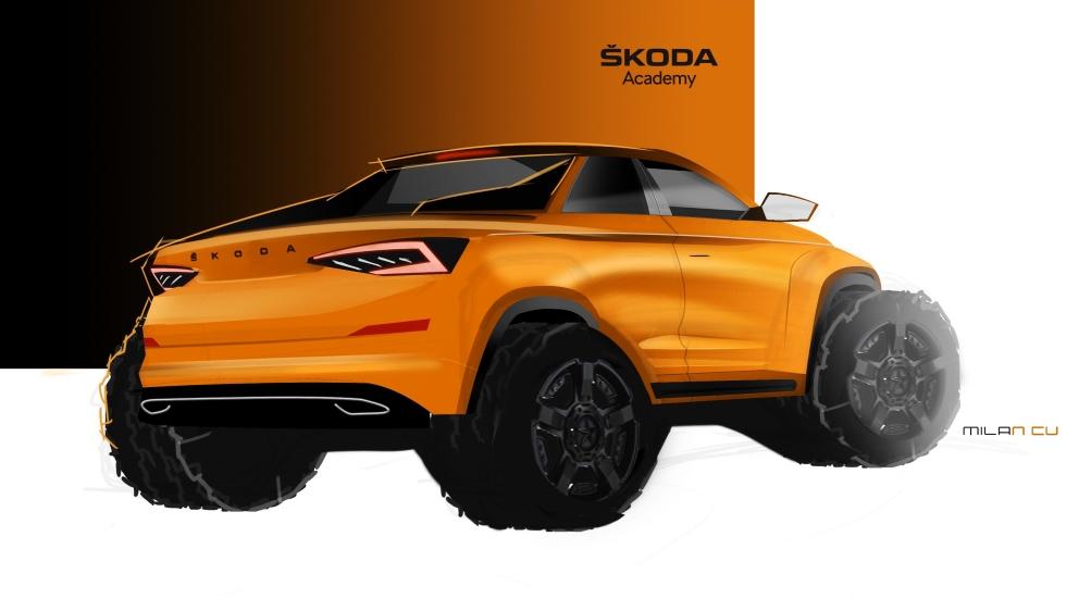 Skoda Kodiaq Pickup: así es el prototipo que se presenta en junio