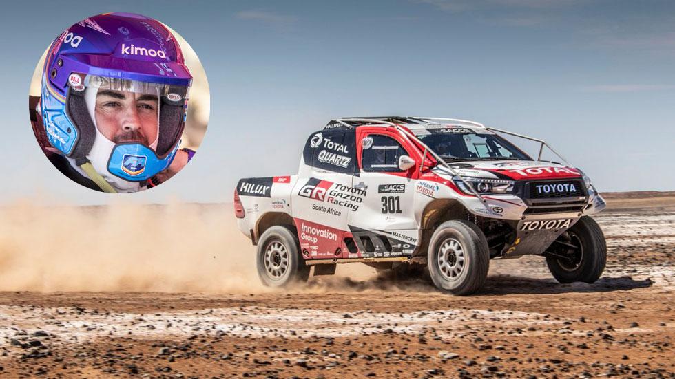 Fernando Alonso prueba el Toyota del Dakar. ¿Debutará en 2020?
