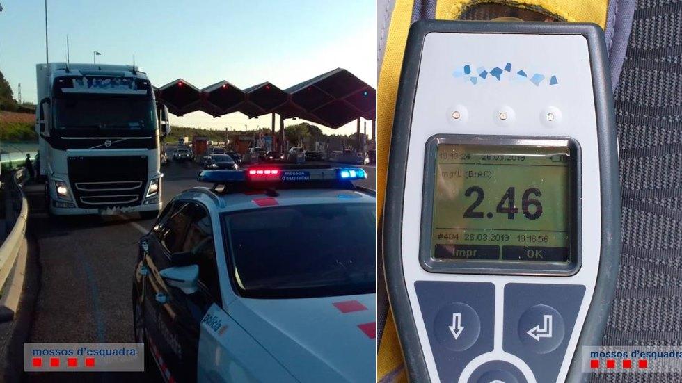 """Detenido un camionero en """"zigzag"""" que multiplicaba por 16 la tasa de alcohol"""
