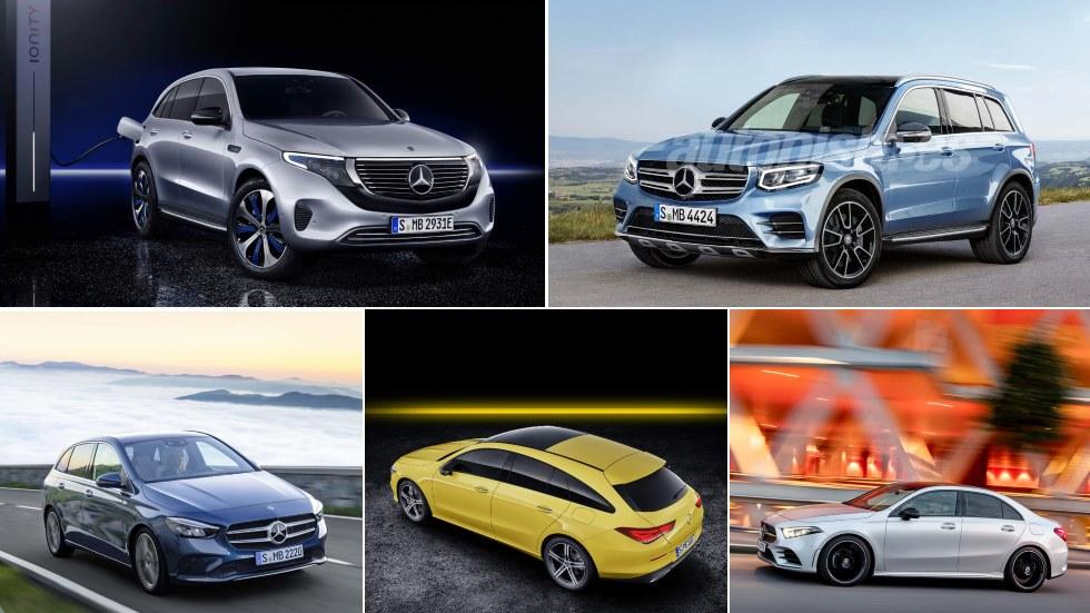 Todos los nuevos Mercedes para 2019: A Sedán, CLA, GLC, GLB, EQC…