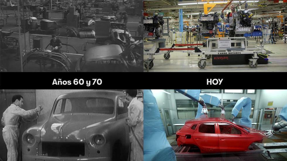 50 años de fabricación de coches en Seat, en un vídeo de 1 minuto