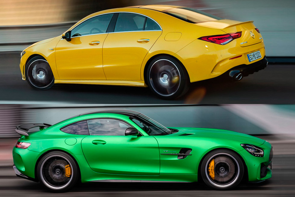 Mercedes-AMG CLA 35 y AMG GT Coupe R 2020: los extremos deportivos se tocan