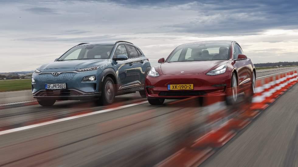 Tesla Model 3 vs Hyundai Kona EV: a prueba dos de los mejores coches eléctricos