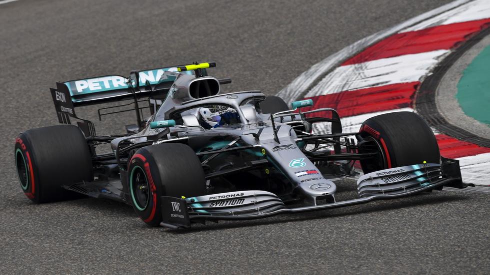 GP de China de F1 (FP2): el Mercedes de Valtteri Bottas batió a los Ferrari