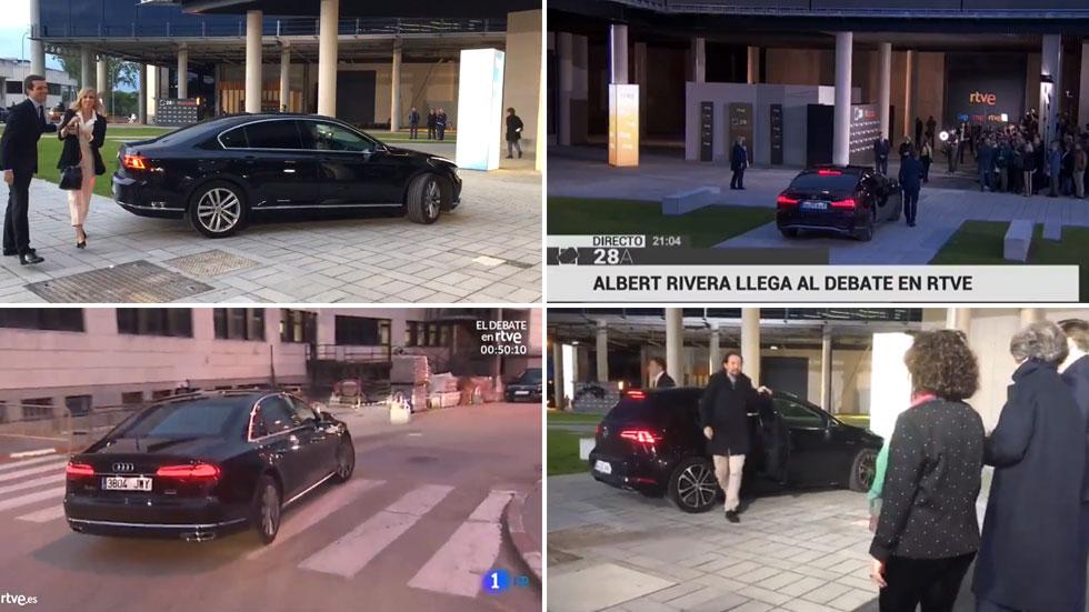 Los coches de los candidatos a presidente del Gobierno: del VW Golf al Lexus LS500h