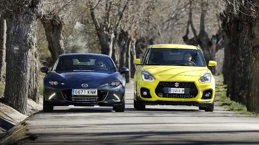 Prueba Mazda MX-5 vs Suzuki Swift Sport: la esencia en frasco pequeño