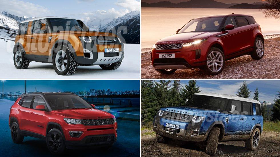 Todos los Jeep y Land Rover para 2019: Evoque, Defender, Renegade PHEV…
