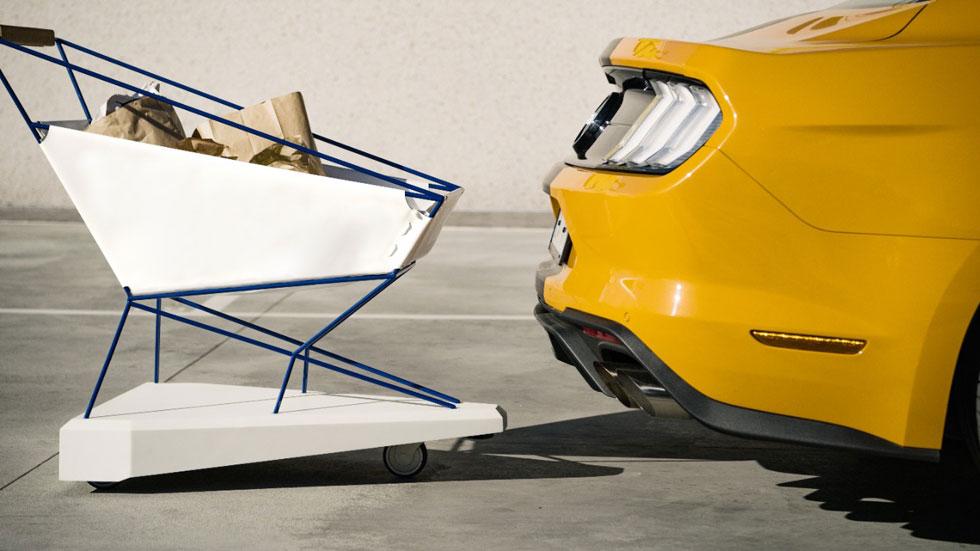 Fuera el estrés en las compras: Ford y su nuevo carrito con freno automático (Vídeo)
