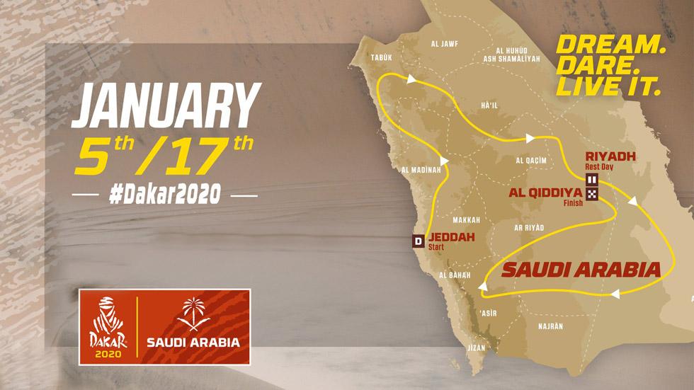 Dakar 2020: así será la nueva aventura en Arabia Saudí