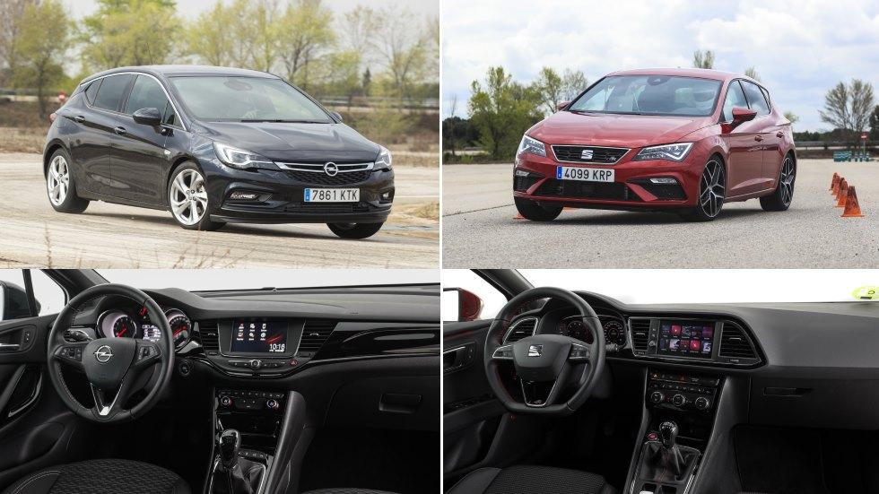 Seat León 1.5 EcoTSI vs Opel Astra 1.4 Turbo: ¿qué compacto es mejor en gasolina?