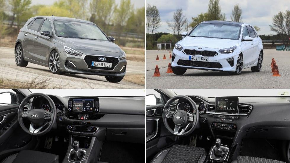 Hyundai i30 vs Kia Ceed: misma base y motor gasolina, ¿qué compacto es mejor?