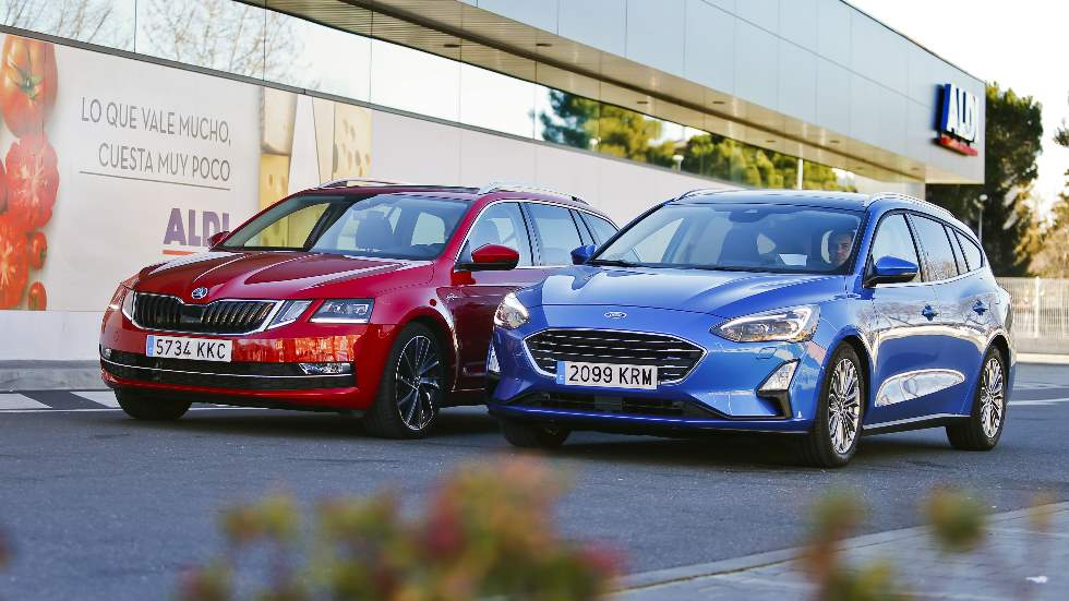 Ford Focus Sportbreak vs Skoda Octavia Combi: ¿qué familiar diésel es mejor?