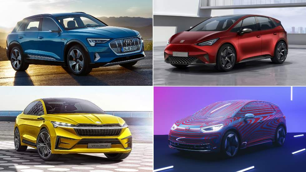 El Grupo VW lanzará 20 coches eléctricos en España: ID.3, el-Born, e-tron, Vision, Taycan…