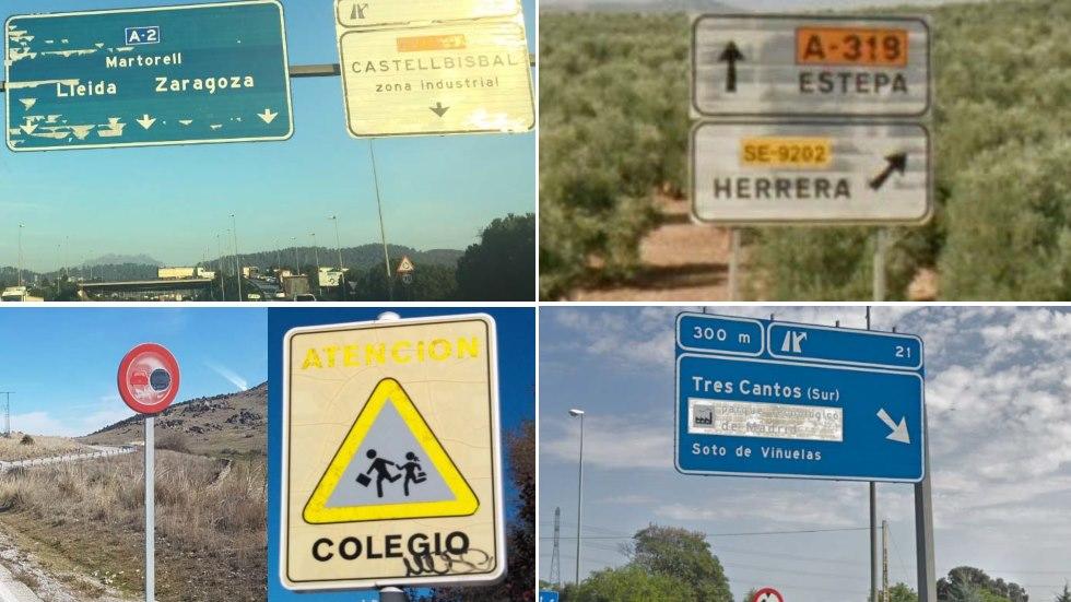 El mal estado de nuestras carreteras: más de 2,3 millones de señales de tráfico, fuera de garantía
