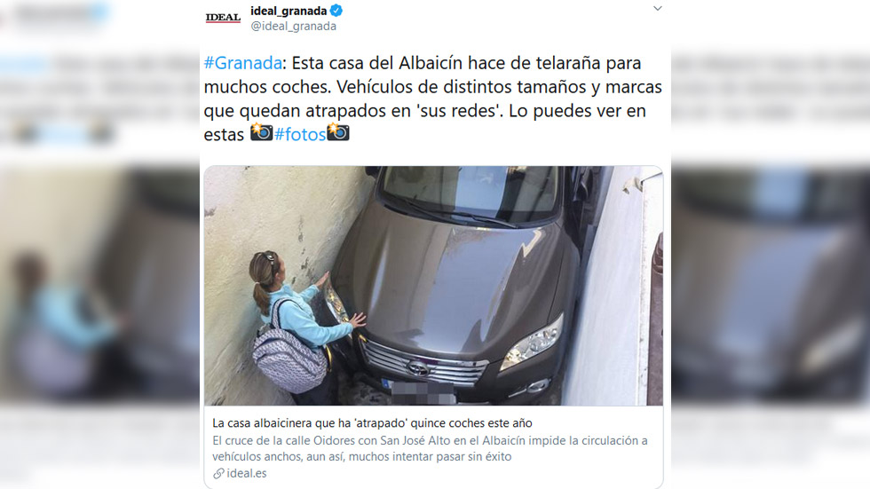 """La curiosa historia de la calle que """"atrapa"""" coches en España"""