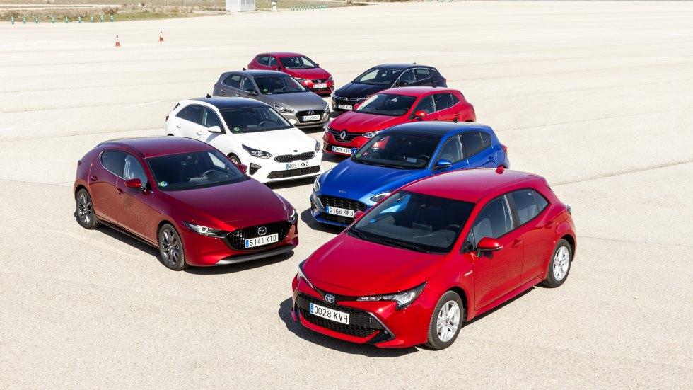 ¿El compacto más seguro? Test en pista: Mazda 3, Astra, León, Mégane, Focus, Corolla, Ceed e i30