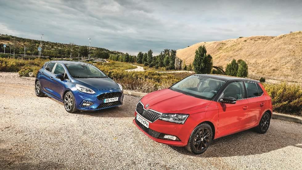 Ford Fiesta vs Skoda Fabia: ¿qué utilitario de gasolina es mejor?