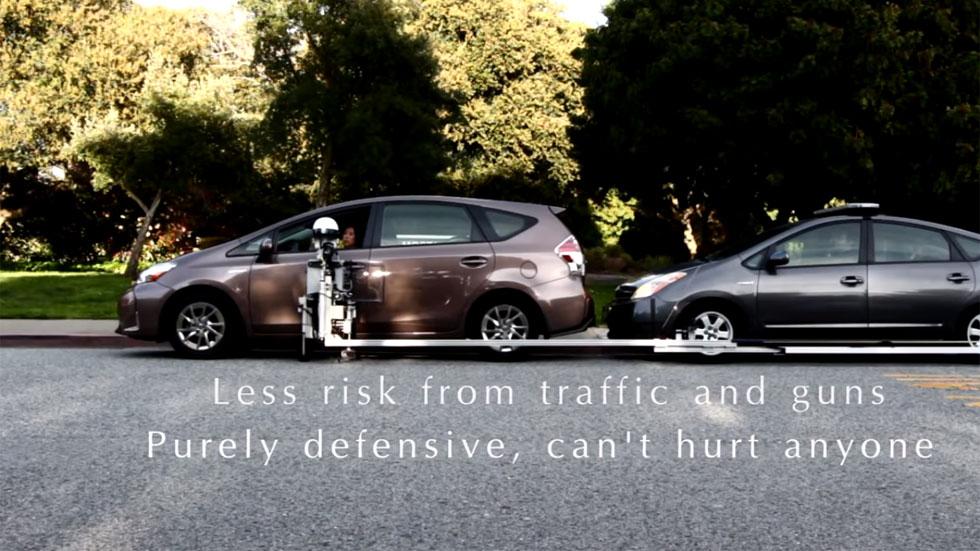 Así es el robot que te para, multa e inmoviliza el coche (VÍDEO)