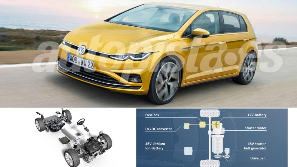 VW Golf 8 2020: así son sus nuevas versiones micro híbridas 1.0 y 1.5 TSI  MHEV