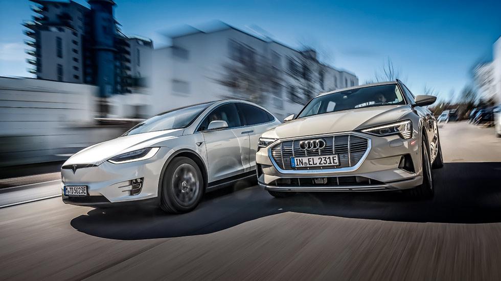 Audi e-tron vs Tesla Model X, ¿cuál es el mejor SUV eléctrico?