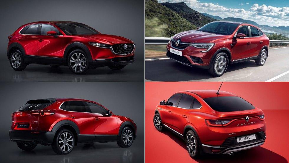 Mazda CX-30 vs Renault Arkana: el gran duelo de nuevos SUV coupé en 2019