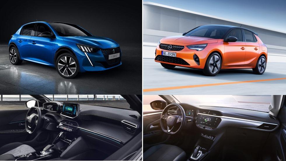 Peugeot e-208 vs Opel Corsa-e: los nuevos utilitarios eléctricos, ¿clones o distintos?
