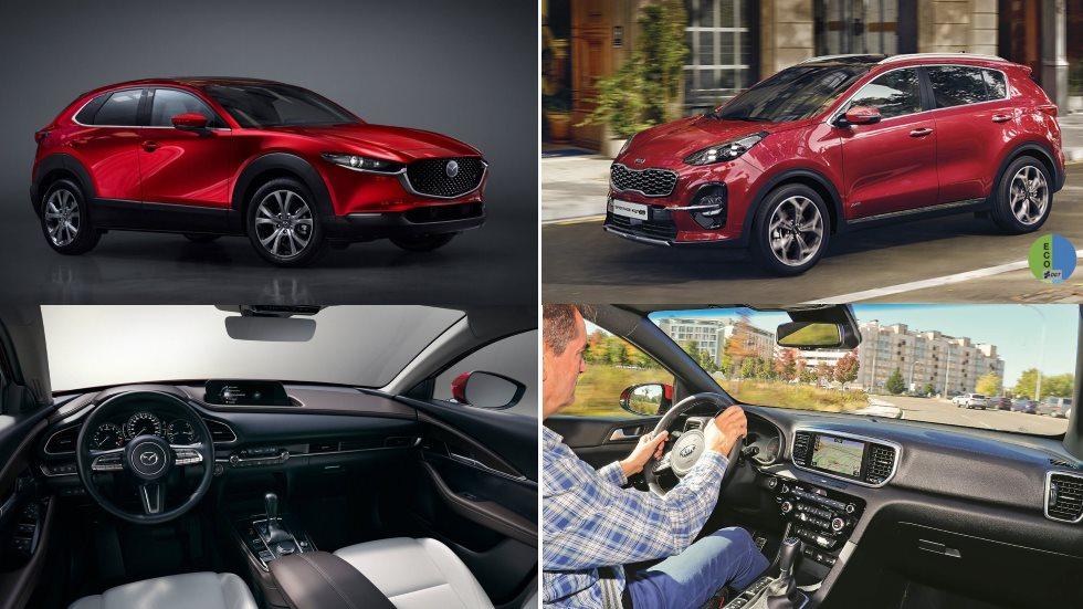 Kia Sportage Híbrido 48V vs Mazda CX-30 M Hybrid: nuevos SUV y tecnologías, ¿diésel o gasolina?