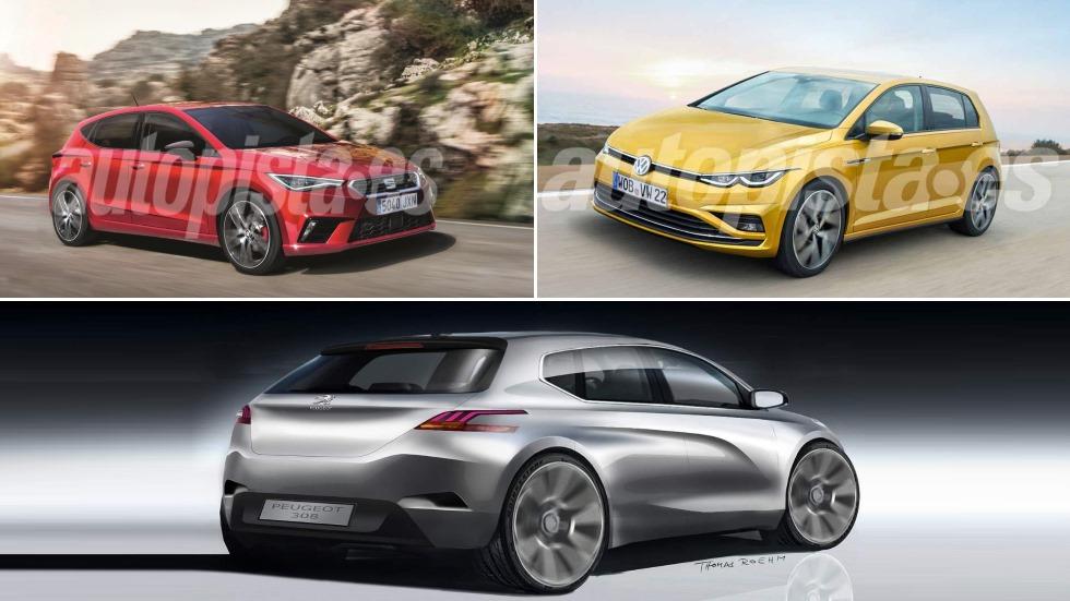 Seat León, VW Golf y Peugeot 308: así son los nuevos compactos que llegan en 2020