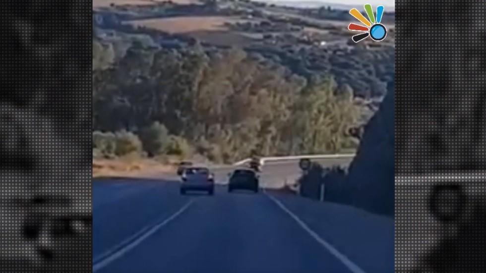 Así causó el pánico un conductor kamikaze ebrio en una carretera de España (vídeo)