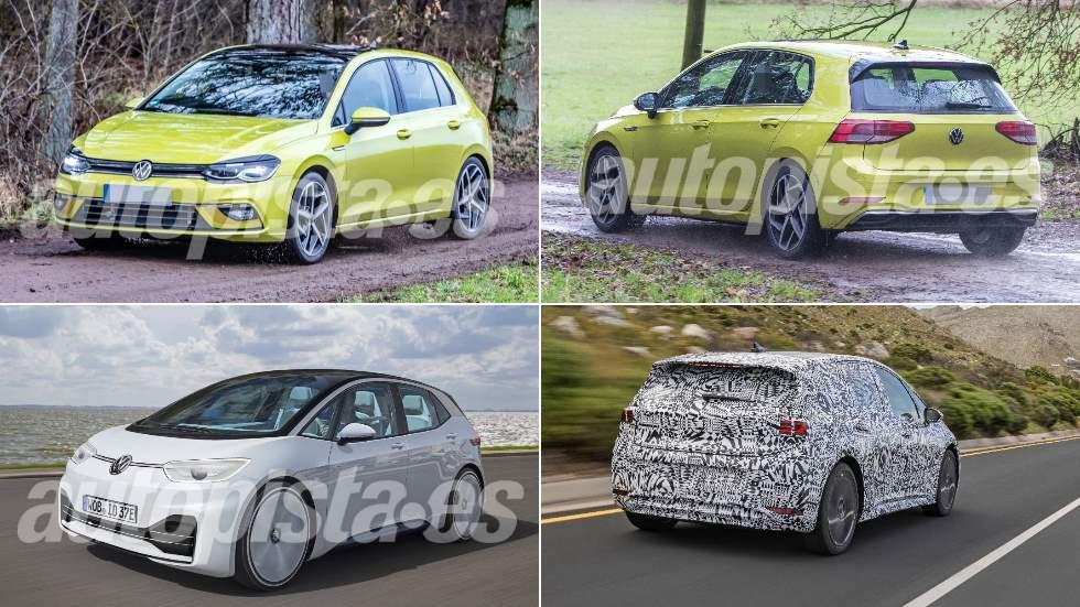 Revista Autopista 3.105: nuevos VW Golf 8 vs VW ID.3 eléctrico, frente a frente