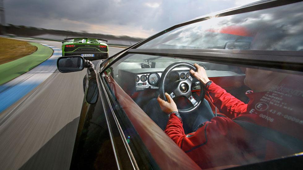 Lamborghini Countach y Aventador SVJ, duelo de V12 en Hockenheim