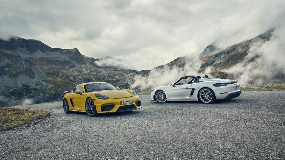 Porsche 718 Cayman y 718 Spyder GT4: pura potencia y aerodinámica