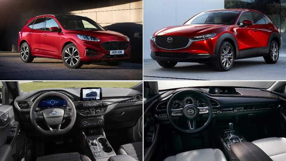 Ford Kuga vs Mazda CX-30: el nuevo gran duelo SUV de 2019