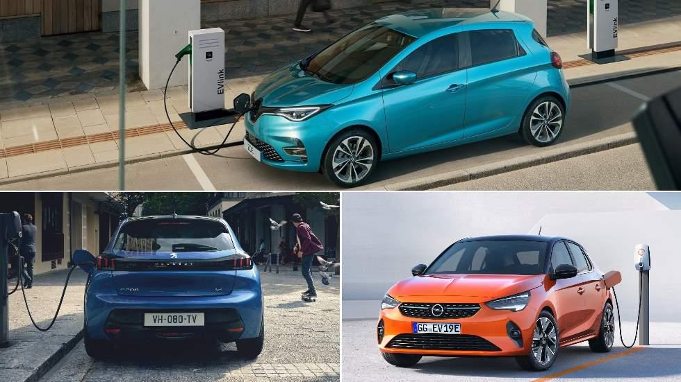 Peugeot e-208, Opel Corsa-e y Renault ZOE: los nuevos eléctricos, frente a frente
