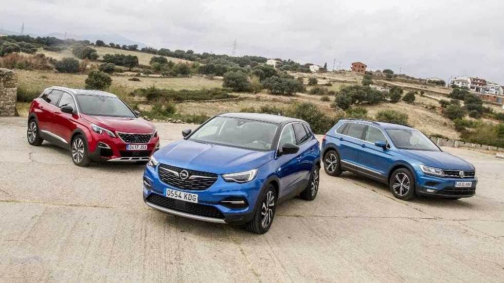 Opel Grandland X, Peugeot 3008 y VW Tiguan: ¿qué SUV diésel es mejor?