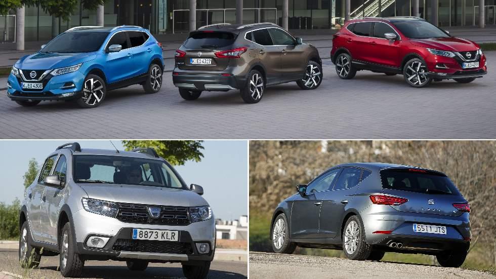 Las ventas de coches caen un 8,3 por ciento: estos son los modelos más vendidos