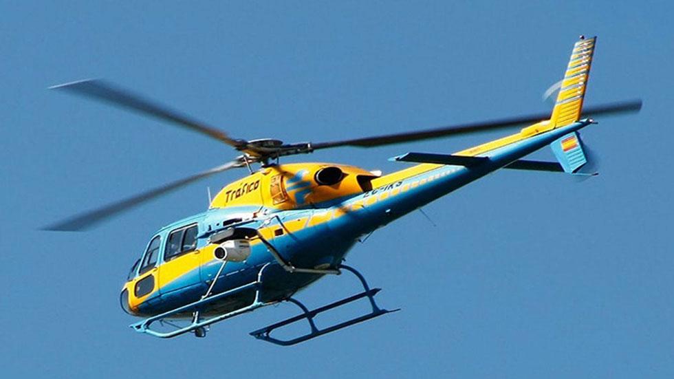 Drogado y a 223 km/h por una autopista: así lo cazó el helicóptero de la DGT