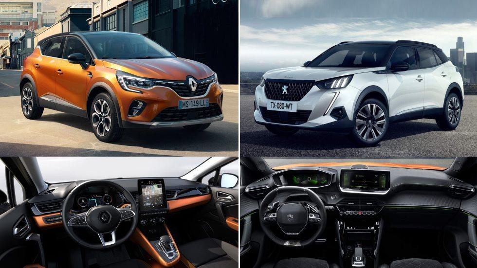 Peugeot 2008 vs Renault Captur: el gran duelo de nuevos SUV 2020, ¿cuál es mejor?