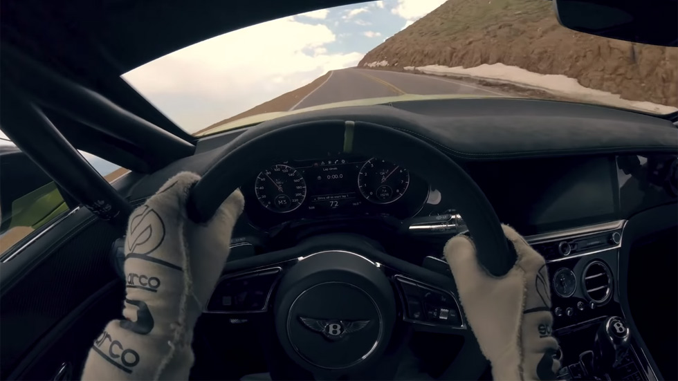 "Desde dentro: vive ""on board"" el récord del Bentley Continental GT en Pikes Peak"