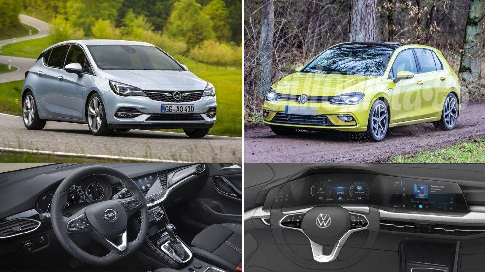 Opel Astra 2019 vs VW Golf 8: el gran duelo de nuevos compactos, listo para final de año