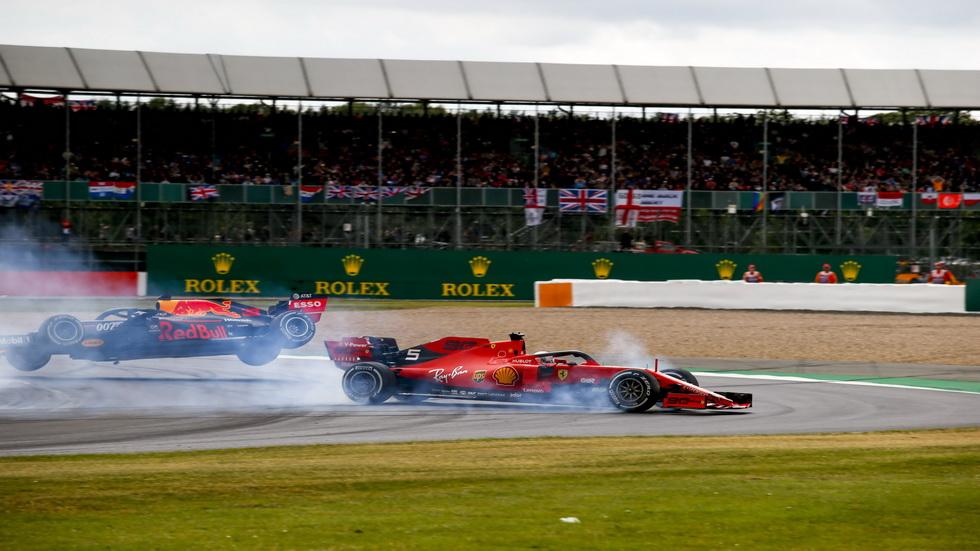 GP de Gran Bretaña: Vettel bajó del podio a Verstappen