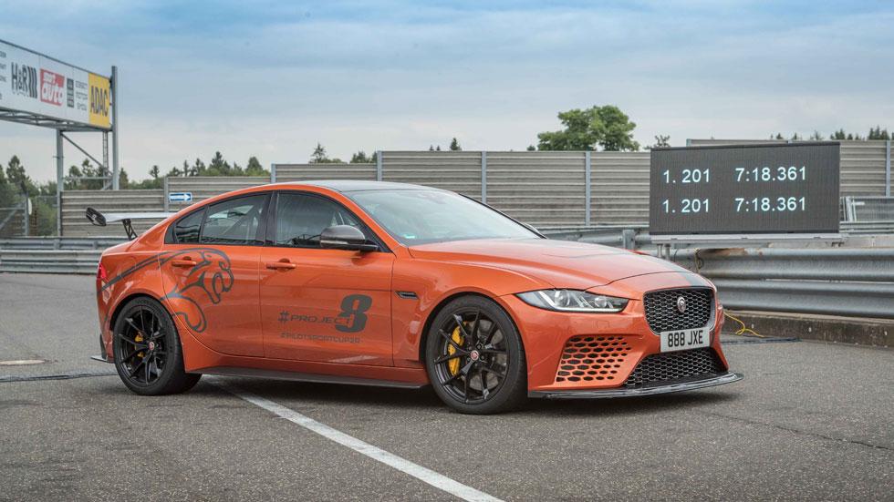 Jaguar XE SV Project 8: así es la berlina de 4 puertas más rápida en Nürburgring