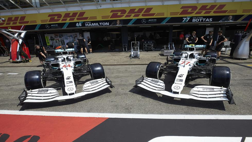 GP de Alemania de F1: nueva decoración de los Mercedes