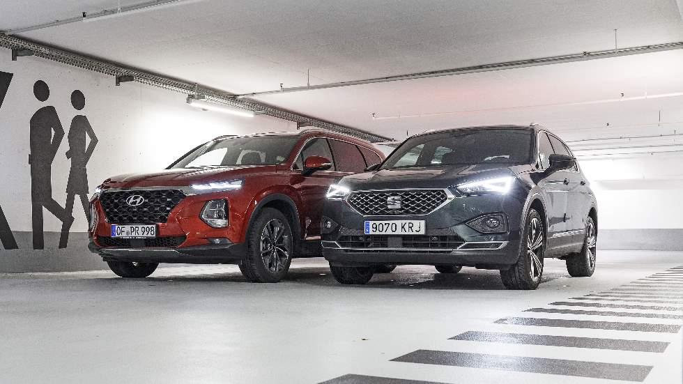 Hyundai Santa Fe CRDI vs Seat Tarraco TDI: ¿qué SUV diésel de 7 plazas es mejor?