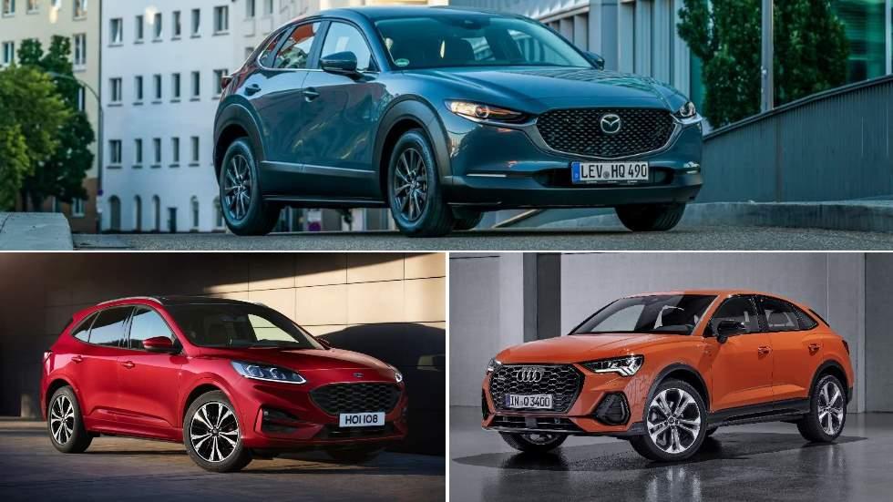 Tres SUV que darán que hablar: nuevos Mazda CX-30, Ford Kuga y Audi Q3 Sportback