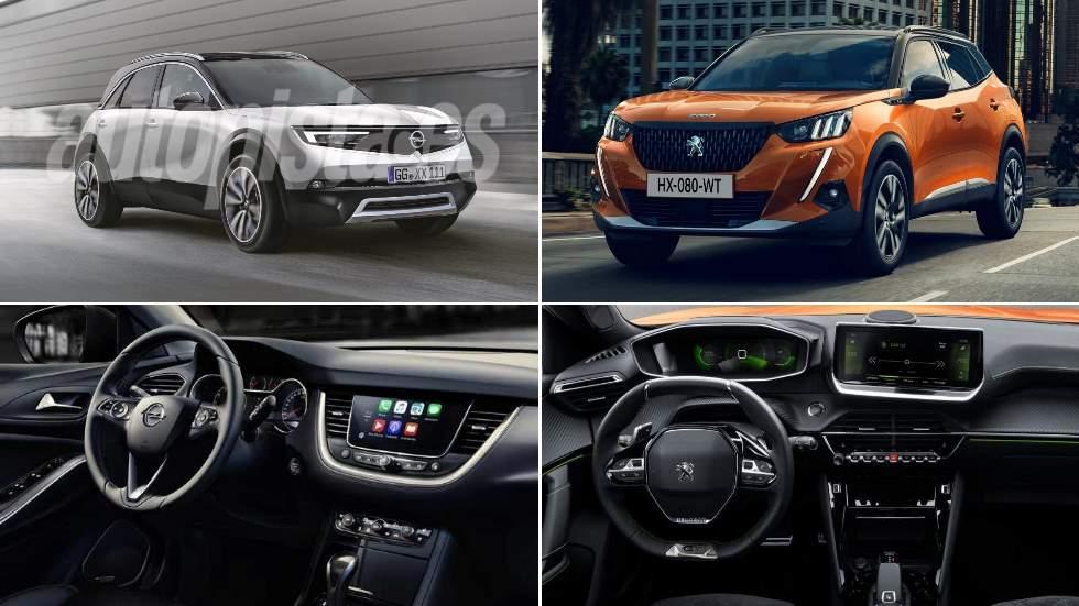 Duelo fratricida de nuevos SUV: Peugeot 2008 vs Opel Mokka X 2020