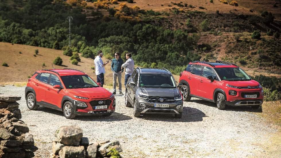 Citroën C3 Aircross, Hyundai Kona y VW T-Cross: ¿qué SUV urbano de gasolina es mejor?
